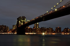 Brooklyn Bridge (maui photographer) Tags: brooklyn bridge park water bridges reflections iconic icon landmark landmarks new york newyork nyc landscape cityscape night photography marques baclig mauiphotographer nikon d3300 dslr nikonproject366