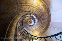 Vortex (Explore) (SIsifo73) Tags: travel vortex up architecture spiral austria nikon europe looking staircase marco niedersterreich melk spiralstaircase frescoes romani loweraustria melkabbey impossibleperspective d700 featuredonadidapcom abbaziadimelk sisifo73 sisifo73photography