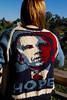 Obama-Rama Cardigan (iwriteplays) Tags: sweater fo obama cardigan 2012 steeking knittingblog obamarama