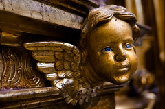 Detalle (Cobalto :)) Tags: angel eyes monumento escultura ojos alas dorado oro celanova monasteriodesansalvador pentaxart