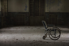 Less is More (andre govia.) Tags: urban never building abandoned buildings photo shot photos decay wheelchair ghost best haunted explore stop sanatorium exploration decayed abandonedhospital abandonedasylum andregovia