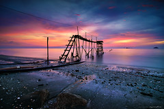 untold story (azrudin) Tags: blue light sunset red sea vacation sky panorama cloud sun reflection art beach nature water silhouette rock stone night landscape photography still lowlight nikon slow wave tokina1224 malaysia slowshutter bluehour minimalist scapes waterflow longexposures nd8 sifoocom gnd09 d7000 azrudin