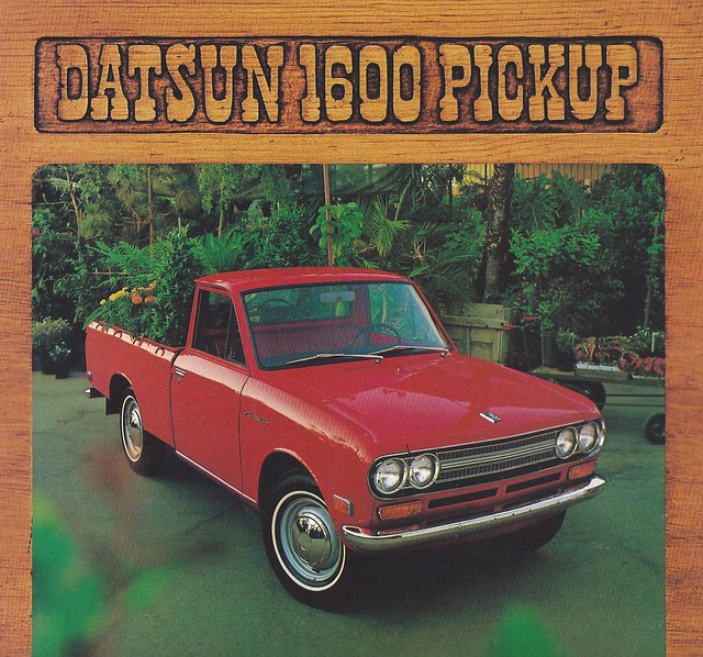 truck ads advertising pickup 1600 catalog 1972 brochure datsun