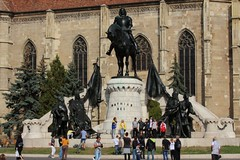 Piata Unirii - Statue of King Matthias - Cluj-Napoca, Cluj, Romania (Wayne W G) Tags: statue europe cathedral cathedrals statues mounted easterneurope romanian cluj clujnapoca geo:country=romania