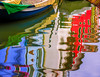 Burano Reflections - 2 (Dit49) Tags: venice abstract reflections boat canal burano nikoncoolpix8800 topazsimplify