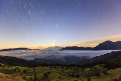(samyaoo) Tags:    taiwan hehuanmountains hehuanshan nantou  longexposure       tree sea clouds fog mist sunset  tarokonationalpark nationalpark national park seaofclouds     galaxy star sky milkyway           trails car light     moon