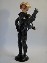 Sergeant Calhoun LE 17'' Doll - First Look - Deboxed - On Doll Stand - Full Right Front View (drj1828) Tags: stand doll personal calhoun limitededition sgt disneystore sergeant 17inch deboxed wreckitralph