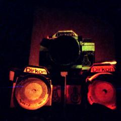 Dirkons (firefly_0815) Tags: camera color colour diy pinhole iso homemade 200 process dm matchbox paradies c41 dirkon redscale tetenal