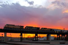 Eastbound UP Loaded Grain Train at Kansas City, MO (Nanner Hogger) Tags: railroad train locomotive railfan railroader