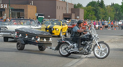 BACK ....to the future. (Pat Kavanagh) Tags: canada bike alberta motorcycle trailer coffin lethbridge showandshine streetwheelers streetmachineweekend