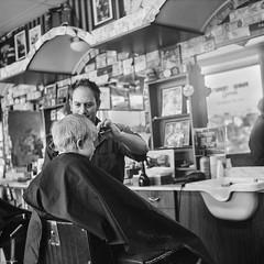 Fall Haircut (BunnySafari) Tags: autumn boy haircut film guelph darwin barbershop francos 2012 snip kodak400 yashicamat fpp autaut bunnysafari