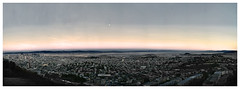 Sunset view from Twin Peaks, San Francisco