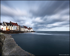 St Monans End (SwaloPhoto) Tags: longexposure wall clouds fence coast scotland fishing harbour fife dusk coastal northsea firthofforth gloaming stmonans isleofmay bythesea giottos eastneuk canonef1740f4lusm leefilters canoneos5dmkii