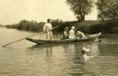 Detail (elinor04 Thanks for 17,000,000+ views!) Tags: vintage river boat photo hungary hats 1900 bathing bathingsuits