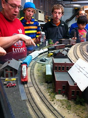 MIT TMRC (Tech Model Railroad Club) open house. 17 Nov 2012 (Chris Devers) Tags: railroad train modeltrain mit ho scalemodel hotrain tmrc massachusettsinstituteoftechnology techmodelrailroadclub exif:exposure=0067sec115 exif:iso_speed=160 exif:focal_length=39mm exif:aperture=f28 camera:make=apple exif:flash=offdidnotfire camera:model=iphone4 exif:orientation=horizontalnormal exif:filename=dscjpg meta:exif=1357693202