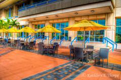 Umbrellas and Tables (Valrico Shooter) Tags: urban downtown artistic florida urbanart tables umbrellas hdr tampaflorida artcityart