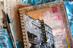 Majestic (Mae Chevrette) Tags: nyc newyorkcity ny art collage painting sketch mixed artwork media journal sketchbook mae chevrette maechevrette