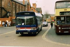 LDW3621P  Chester  1993 (Walsall1955) Tags: bus chester wrights chesterct leylandnational chesterbus dennisdominator wrightsofwrexham chestercitytransport ldw362p mpn140w wrightswrexham