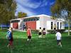 Green Portable Classroom Concept Image