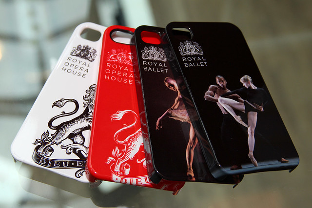 Royal Opera House and Royal Ballet iPhone cases, available from the Royal Opera House Shop