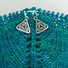 Celtic Stitch Marker on Shawl