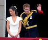 Pippa Middleton and Prince Harry waving