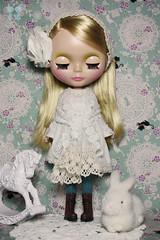 Gwyneth in Winter White Lace.