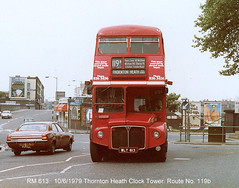 RM 613          10/6/1979 (colinfpickett) Tags: old bus routemaster lt rm aec vintagebus classicbus