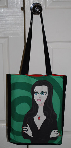 Tote bag - the lovely Morticia Addams