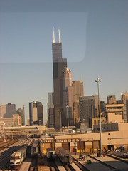 unionStationWillis_1 (TurningAngles) Tags: chicago building skyline architecture skyscraper train searstower trains amtrak metra unionstation willis wesleywillis willistower
