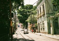 (caio meirelles) Tags: santa 2 summer brazil film rio arquitetura brasil architecture vintage volkswagen de janeiro beetle olympus retro teresa mm filme fotografia 35 analogica ees fusca verao