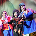 From left, Jordan Young, Elaine C Smith and Alan McHugh in Snow White. Photo by Donald Stewart