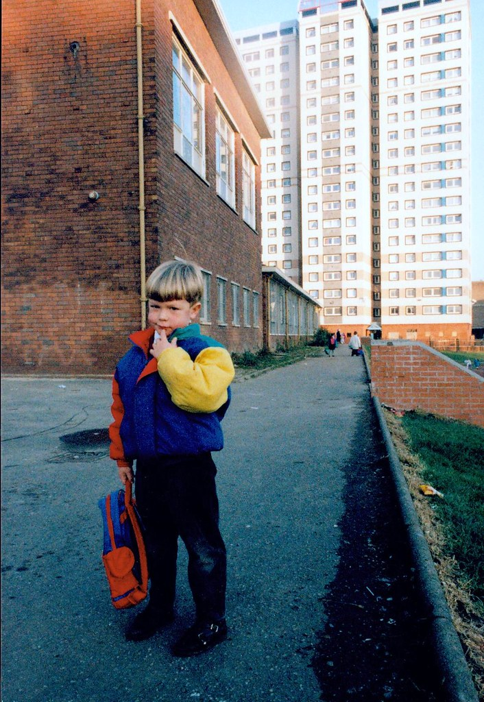 First day at School Cranhill 1990s