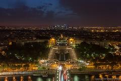 Palais de Chaillot by night from Tour Eiffel, Paris, France (Tanzeus) Tags: paris france torre toureiffel francia notte parigi palaisdechaillot tanzeus tanzeusphoto gaetanocastaldo