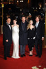 Russell Crowe, Anna Hathaway, Hugh Jackman, Amanda Seyfried and Tom Hooper Les Miserables World Premiere held at the Odeon & Empire Leicester Square - London