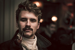 The moustache, the man, the pride & the passion... (KernowSnapper) Tags: charity uk portrait money face pipe cardiff cancer smoking movember handlebar smoker pilot global prostate pipesmoker pipeman