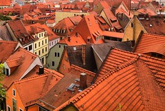 Old Europe. (Sascha Unger) Tags: red rot rooftop germany dresden saxony roofs sachsen sascha altstadt oldtown meissen iphone unger ziegel dcher albrechtsburg saschaunger