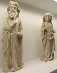Perhaps Joachim and Elizabeth (petrus.agricola) Tags: from art museum high cathedral kunst von cologne kln medieval des altar tiny colonia former der doms klner sakral mittelalterliche zierliche schntgen marmorfiguren marblefigures hochaltarmensa
