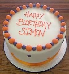 Blue & Orange Birthday Cake