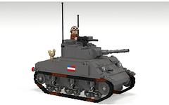 POV_M4 Sherman (Florida Shoooter) Tags: usa usmc army tank lego armor ww2 povray ldd m4sherman