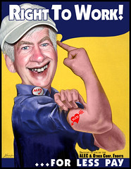 Rick Snyder - Right To Work For Less