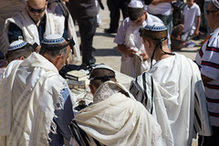 Western Wall (ejorpin) Tags: travel cruise israel worship jerusalem prayer religion jewish yarmulke westernwall kipa kippah recitation