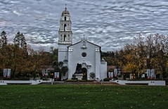Saint Mary's College - Sunset (rschnaible) Tags: california college saint architecture private evening chapel spanish valley marys circa hdr moraga califronia 1863 rheem