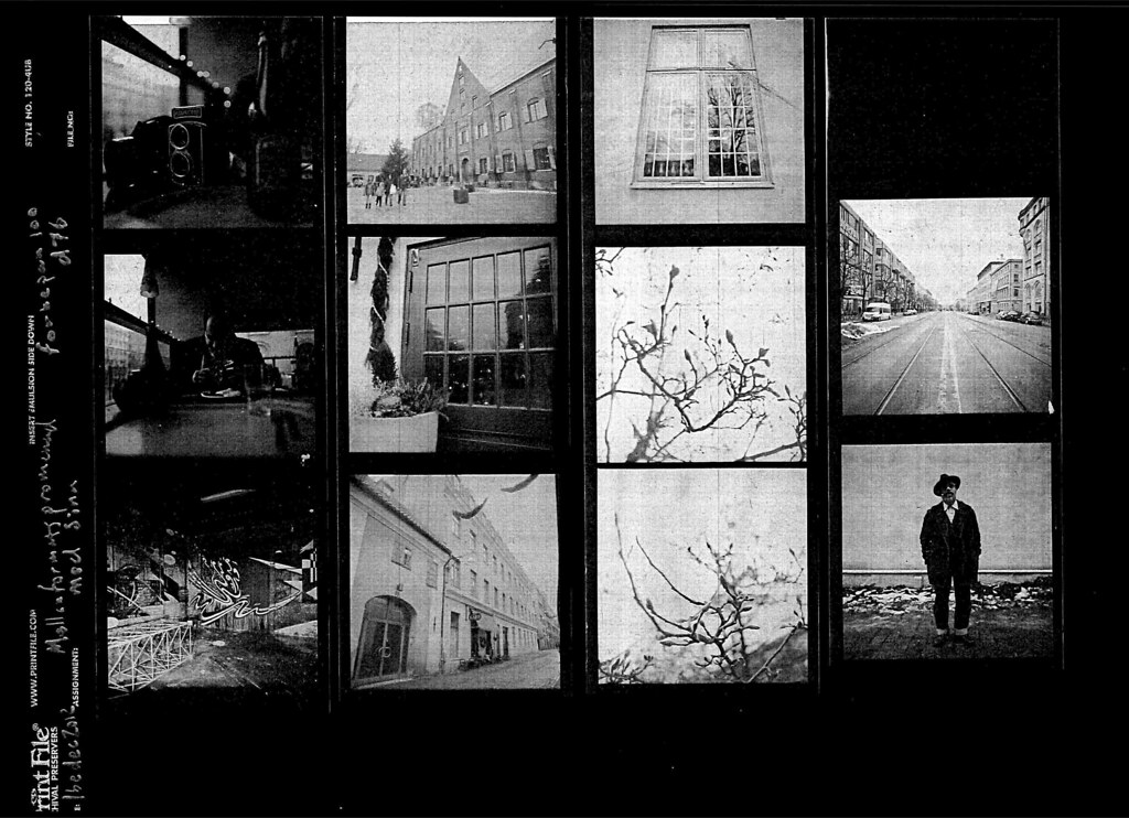 how to make a contact sheet darkroom