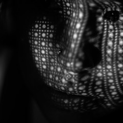 Day ? of 365 - Through a screen (can i SHOOT you?) Tags: portrait white chicago black blur self project photography moody photographer open view lace curtain adriana belief screen vision mind 365 ideas interpretation selfie acevedo obscurefoto