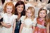 Mandy Maher, Catwalk Model Agency and Flowergirls Jane Callanan, Taylor and Keeley Spellman pictured at An Evening of Timeless Elegance at Hotel Meyrick. Photo Martina Regan
