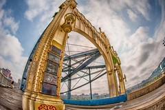 A fisheye view of the Smithfield St. Bridge in Pittsburgh HDR (Dave DiCello) Tags: beautiful skyline photoshop nikon pittsburgh tripod usxtower christmastree mtwashington northshore northside bluehour nikkor hdr highdynamicrange pncpark thepoint pittsburghpirates cs4 ftpittbridge steelcity photomatix beautifulcities yinzer cityofbridges tonemapped theburgh clementebridge smithfieldstbridge pittsburgher colorefex cs5 ussteelbuilding beautifulskyline d700 thecityofbridges pittsburghphotography davedicello pittsburghcityofbridges steelscapes beautifulcitiesatnight hdrexposed picturesofpittsburgh cityofbridgesphotography