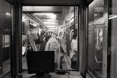 Circle gets the square (BrianEden) Tags: nyc ny newyork window subway graffiti us fuji unitedstates manhattan streetphotography fujifilm wallstreet x100s