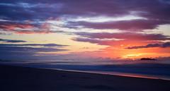 N Ireland Sunset (skippyjon2010) Tags: ireland sunset red cloud seascape beach n calm atlantic portrush ire