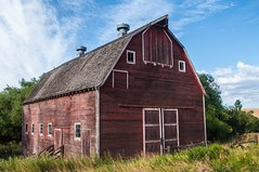 red barn.IMGP2598 (candysantacruz) Tags: palouse washington redbarn